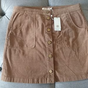 Tory Burch Lucitano skirt in camel corduroy